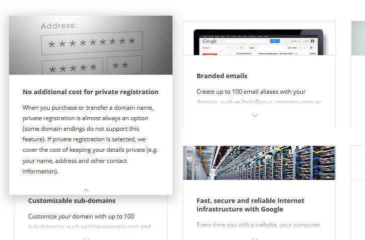Google Domains: privacy whois gratis