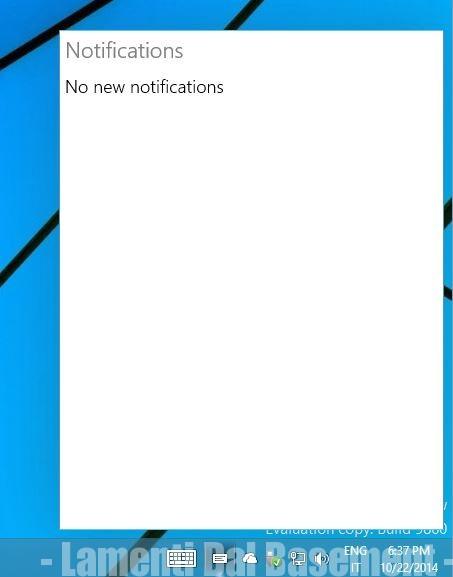 Windows 10 centro notifiche