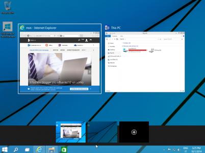 Taskview: finestre e desktop multipli