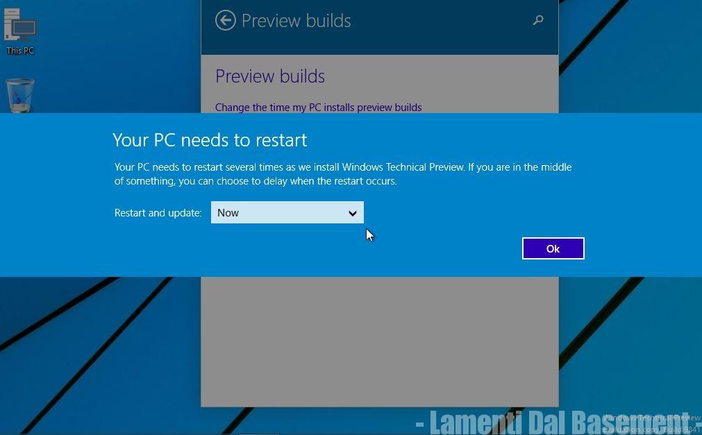 Windows 10 build nuova