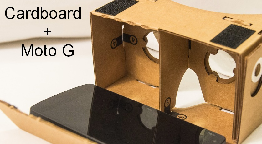 Motorola Moto G e Google Cardboard (tarocco)